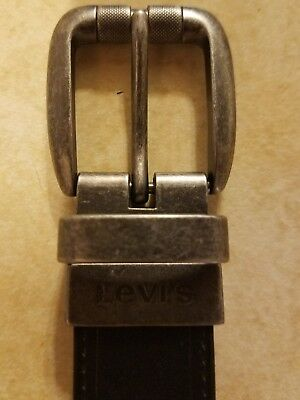 LEVI'S Reversible Brown Black Faux Leather BELT Boy's Size 26/28 FREE SHIPPING