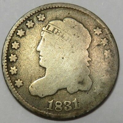 1831 Capped Bust Liberty Silver Half Dime 5c US Coin Item #18258