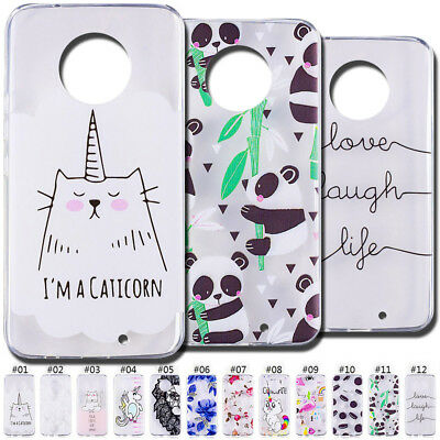 Silicone Gel Soft Cover Skin Clear TPU Protective Case Back For Motorola Moto X4