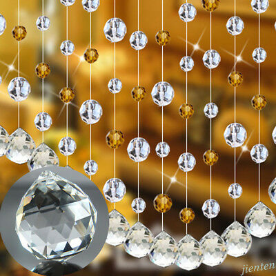 Clear Glass Chandelier Crystal Lots Shape Lamp Prism Home Hanging Drop Pendant