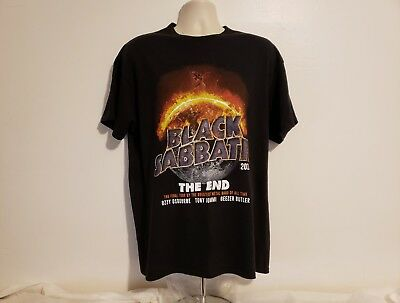 2016 Black Sabbath Rock Band The End Concert Tour Adult Large Black T-Shirt