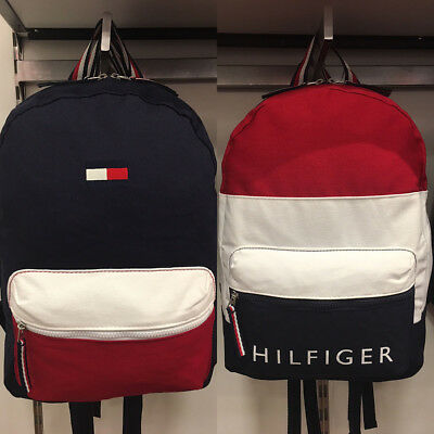 NEW TOMMY HILFIGER Canvas Backpack Mens Womens Travel School Book ... 69610b245a0e1