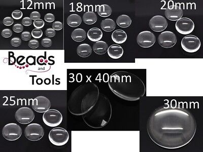 Glass Cabochon 12mm 16mm 18mm 20mm 25mm 30mm 30x40mm- Flat Back Glue on Cabochon
