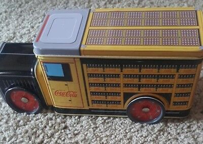 Coca Cola Delivery Truck With Metal Moving Wheels Collectible Tin Rare Find