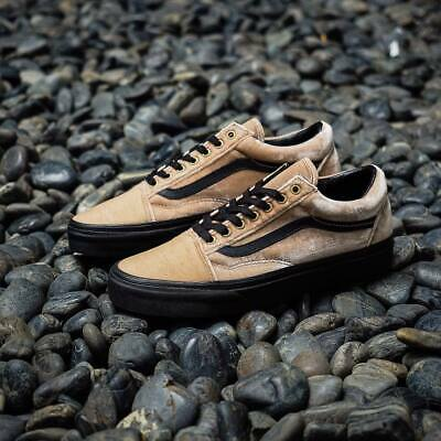 6d7fd4bedf5e9e VANS OLD SKOOL Velvet Tan Black Women s Shoes -  55.00