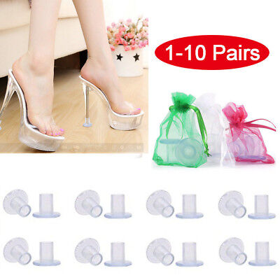 1-10Pairs High Heel Protectors Stopper Stop Sinking Stiletto High Heel Cover