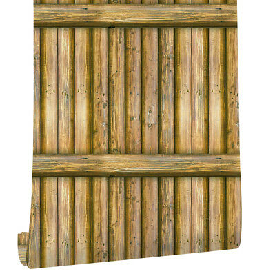 """Faux Bamboo Wallpaper Peel Stick Wall Decor 17.7""""x 19.7ft Prepasted Contact Pape"""