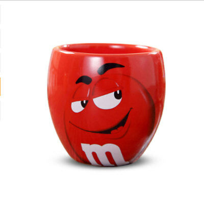 M&M's MM Beans Cafe Oatmeal Coffee Mug Drinking Cup Ceramic Colored Glaze Cup