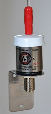 "Metz FM antenna (aerial), 54"", Stainless construction; Lifetime coil warranty."