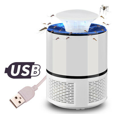 Anti Mosquito UV USB Light Insect Controller Fly Pest Quiet Trap Lamp Killer LOT