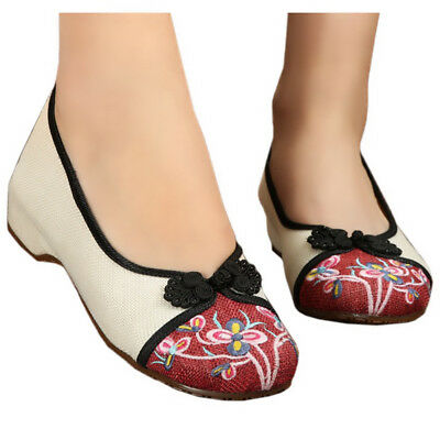 Butterfly Flower Old Beijing Cloth Embroidered Shoes
