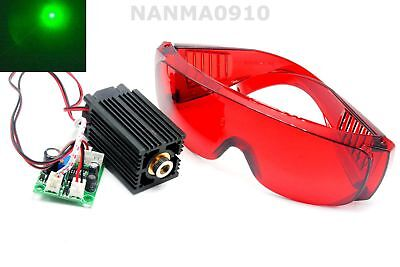 532nm 80mW-100mW Green Dot Laser Diode Module Stage Lights w Protection Goggles