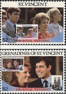 Set of 6 x 1986 Royal Wedding Maxi Cards and Stamp booklet