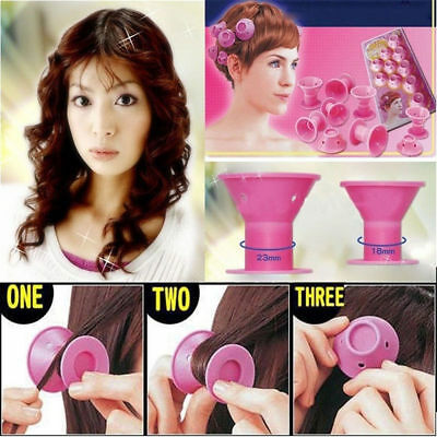 10PCS Silicone Hair Curler Hair Care DIY Roll Hair Style Roller Curling tool