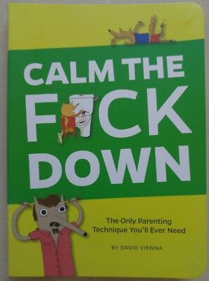 Funny Parenting Book Guide Baby Shower Calm the F Down David Vienna