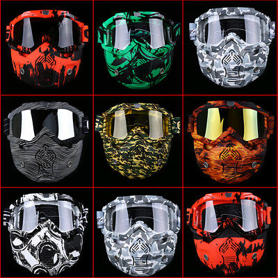 ATV Helmet Goggles Removable Face Mask Motorcycle Dirt Bike Glasses Off Road HOT