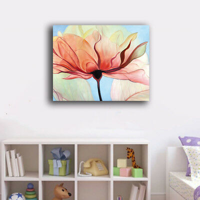 Framed Canvas Prints Stretched One Colorful Flower Wall Art Home Decor Painting