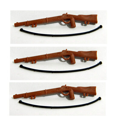 Playmobil 3pcs  Brown Rifles  - Accessories - Weapons