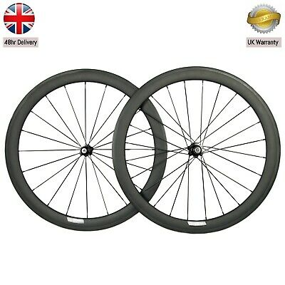 50mm Carbon Clincher Aero Wheelset,, Shimano/Campagnolo Hub UK SELLER / UK STOCK