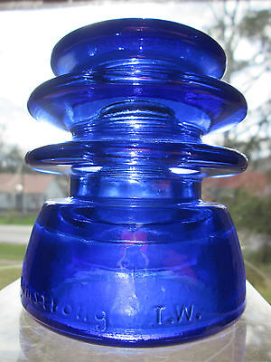 Vintage Hemingray 56 Cobalt Blue Glass Insulator Colored / Stained CD 203