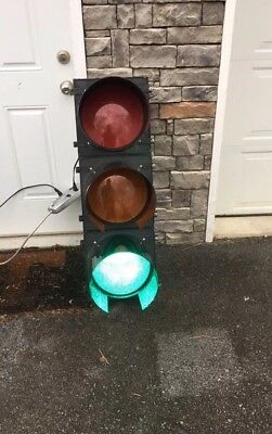 Large 12 Inch Solid Led Traffic Light With Controller Just Plug In 120V