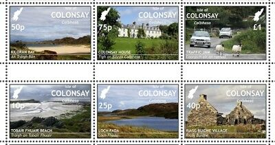 "GB Local stamps: Isle of Colonsay (2018): ""Local Scenes"" set with gutter"