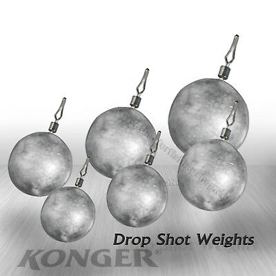 Drop Shot Weights Round Leads Sinkers LRF Soft Lures Fishing Perch Hooks