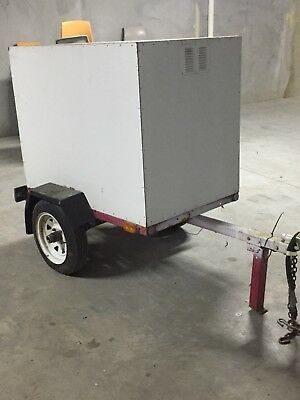 Small Enclosed Box Trailer Suitable For Car Or Motorbike - Part Of Estate Sale