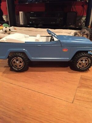 Vintage 1960's Toy Tonka Jeepster Truck Boat Trailer Runabout Car BLUE