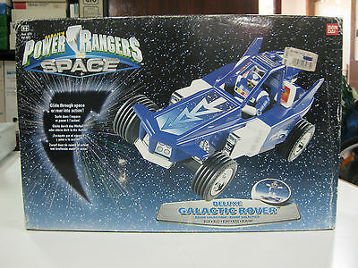 Vintage 1997 Bandai Power Rangers In Space Deluxe Galactic Rover Blue-New!!