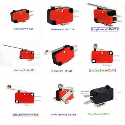 V15 Series Microswitch Limit Switch V-15/151/2/3/4/5/6-1C25 Momentary SPDT 15A