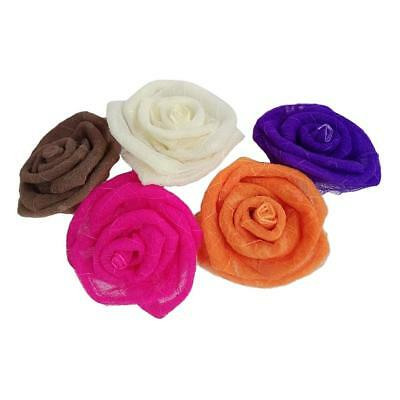 5x Large Artificial Simulation Rose Flower Head for DIY Hair Wedding Flowers