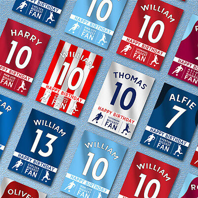 FOOTBALL Personalised Birthday Card | Son Grandson Party Nephew | Fast Shipping