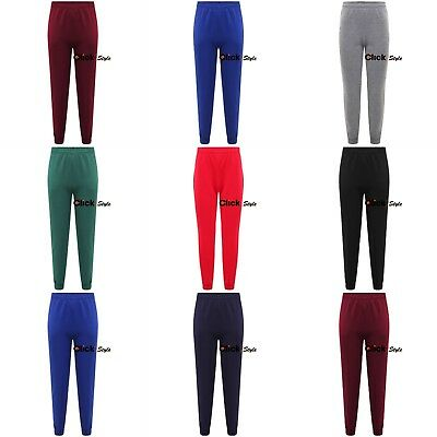 Unisex Boys Girls Fleece PE Gym School Jogging Bottoms Trousers Joggers Pants