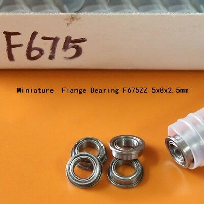 F675ZZ Miniature Flange Deep Groove Ball Double Shielded Bearing 5x8x2.5mm