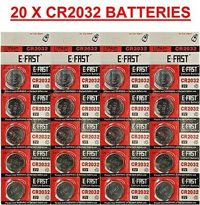 20 x CR2032 BR2032 DL2032 Branded 3V LITHIUM Coin Cell Button Batteries