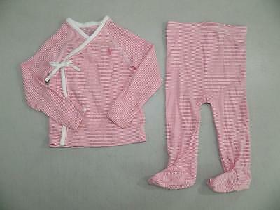 KS494 Ralph Lauren Baby Girls Pants / Shirt 2 Piece Sleepwear Set NWOT Size 9M