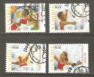 2008   Namibia  - Sg  1114 / 1117  - Summer Olympics, Beijing  -  Used - (Lot A)