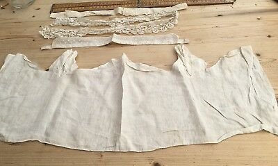 An Antique Lace Collar, Antique Baby Jacket (?) And More