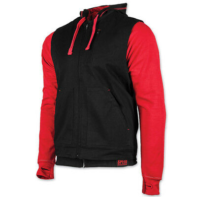 Speed and Strength Men's Bikes Are In My Blood Red/Black Vest/Hoodie, L