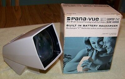 Vintage GAF Pana-Vue 1R 2 x 2 Lighted 35mm Film Slide Viewer in Original Box