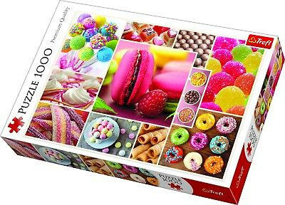 Trefl 1000 Piece Adult Large Candy Sweets Pastries Collage Jigsaw Puzzle NEW