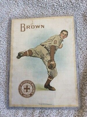 1910 Murad Silk Brown University Baseball/large