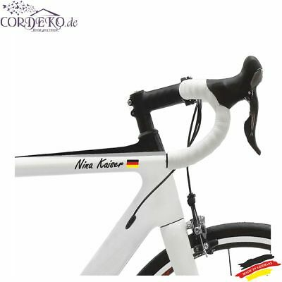 2x Namen +2x Flagge Deutschlands Racing Fahrradaufkleber Auto Bike Folie Decal