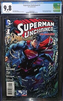 Superman Unchained #1 Cgc 9.8 Fresh From Cgc New Case! Justice League! Jim Lee!