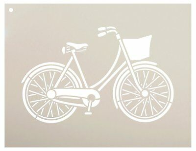 Bicycle Stencil by StudioR12 | Fun Vintage Art - Reusable Mylar Template |...