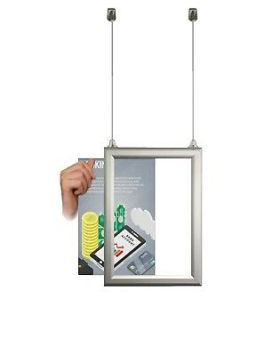 A1 A2 A3 A4 sliding Double Sided Suspended Aluminium Slide in hanging snap Frame