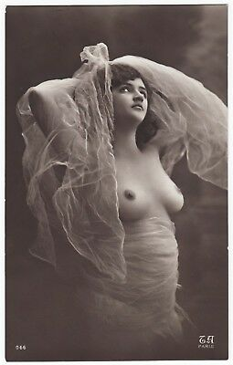 1910 Original French RPPC Nude  Girl Beauty Lingerie Stockings Jean Agelou Rare