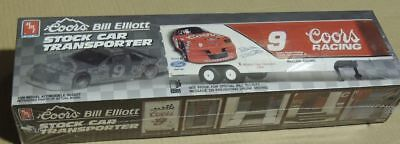 AMT #6019 1/25 Coors Bill Elliott Stock Car Transporter Model Kit--Sealed--1990