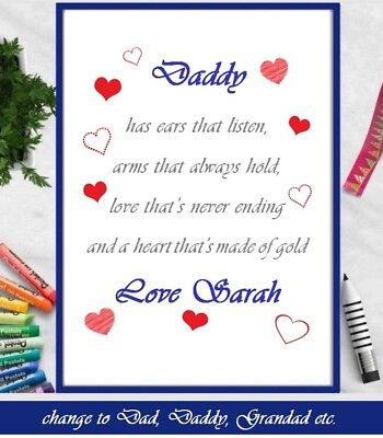 Personalised Fathers Day Gifts From Baby Bump Daughter Son For Dad Daddy Grandad